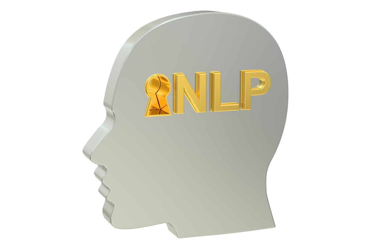 Neuro-linguistic programming NLP concept, 3D rendering